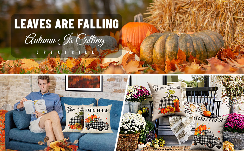 fall plaid pillow covers