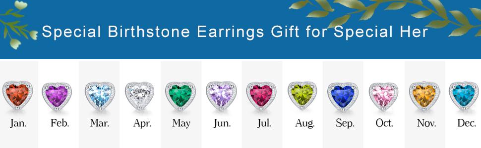 12 months earrings