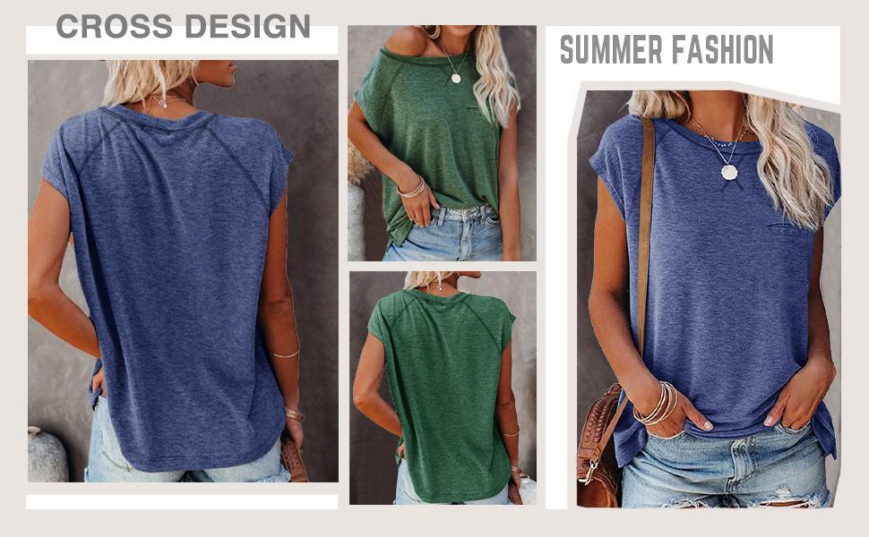 summer fashion womens tshirt loose blouse