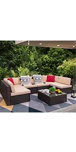 7 pieces patio conversation set