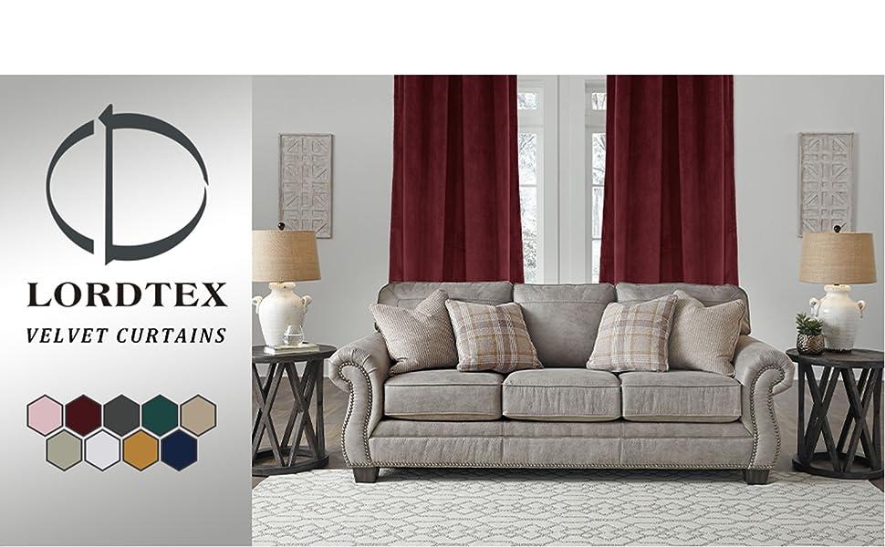 velvet curtains