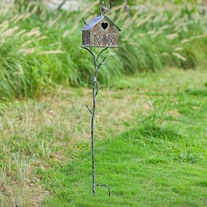 Farmhouse Bird Houses with Pole