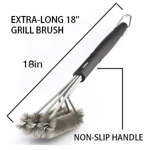 "long 18"" reinforced handle"