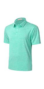 mint green golf shirts