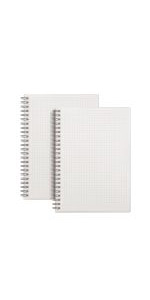 A5 Graph Ruled Spiral Notebook Perforated Sheets