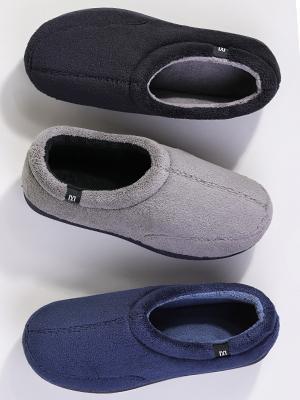 Gray Mens Slippers Black Mens Slippers Navy Blue Mens Slippers