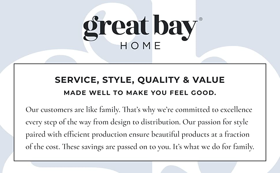 Great Bay Home, service, style, quality, and value