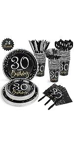 24 Guests 30th Birthday Party Supplies B08CZQTQLX