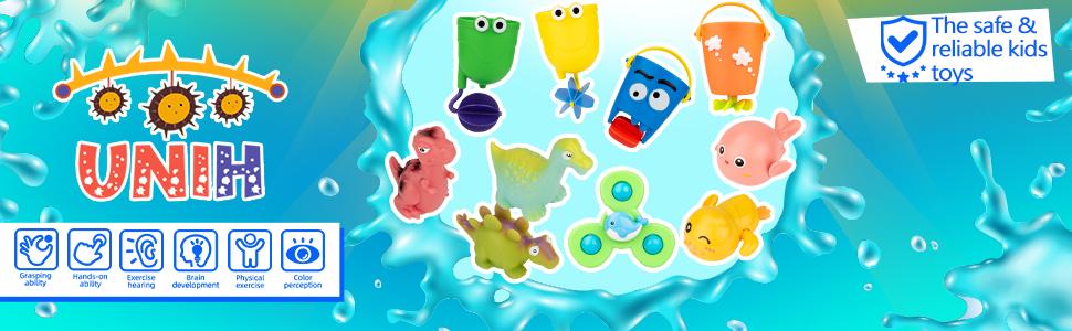UNIH Bath Toys 10 Pcs