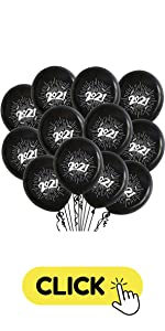 Congrats black 2021 printed balloons