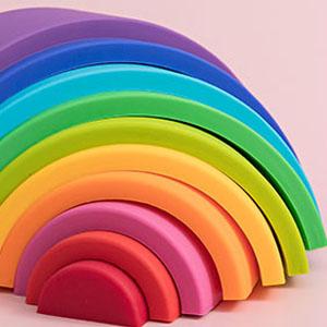 silicone rainbow details