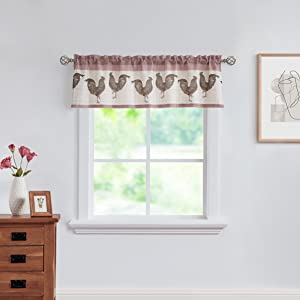 Red Rooster Curtain Valance