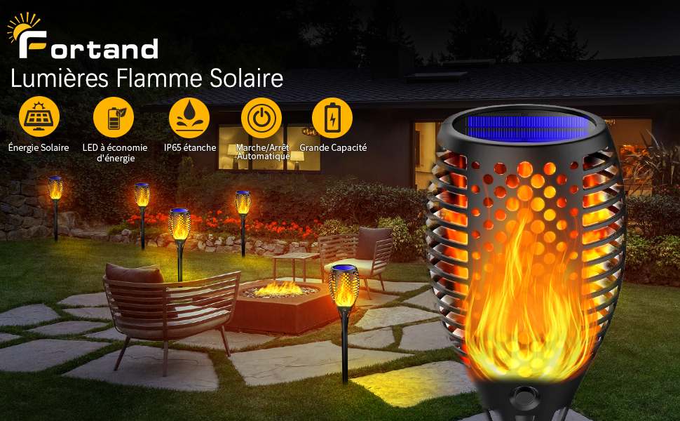 Fortand Lumières Flamme Solaire 6 Pack