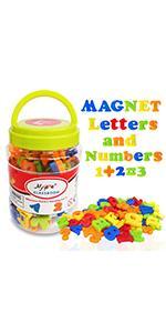 Magnetic Alphabet Letters and Numbers for Toddlers Magnets ABC 123 Fridge White Board Educational