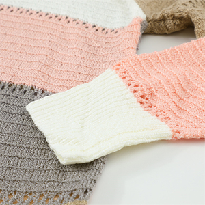 Actloe Long Sleeve Color Block Sweatshirt