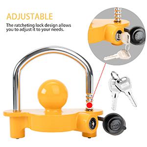 universal Coupler Lock with adjustable ratchet design
