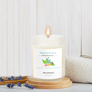 white sage candle for cleansing house