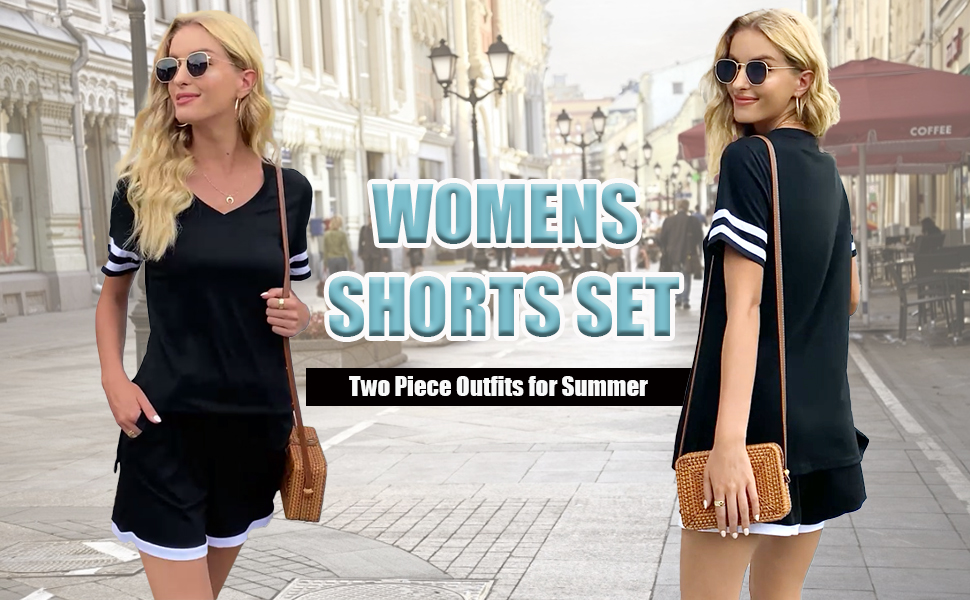 Aloodor Two Piece Outfits for Women Casual Summer
