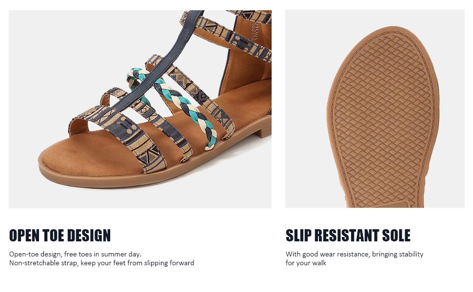 OPEN TOE DESIGN, SLIP RESISTANT SOLE