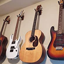 Guitar wall mount for acoustic electric guitar.