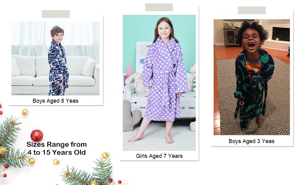 kids robes for girls
