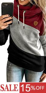 color block hoodie sweatshirts