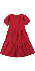 Girls Tiered Ruffle Short Sleeve Dress