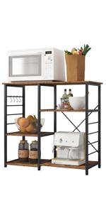 Microwave Oven Rack, Storage Shelf, Kitchen Baker's Rack, Kitchen Storage Cart