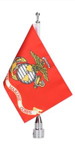 United States Marine Corps Flag With Flag Pole