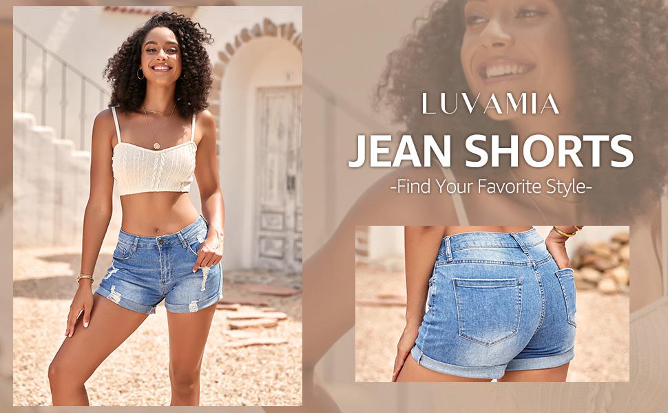 Women's Denim Shorts women denim shorts shorts for women Petite Women's Plus Denim Shorts