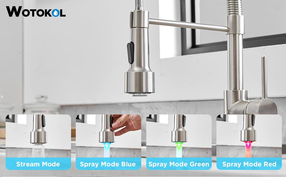 kitchen faucet led light