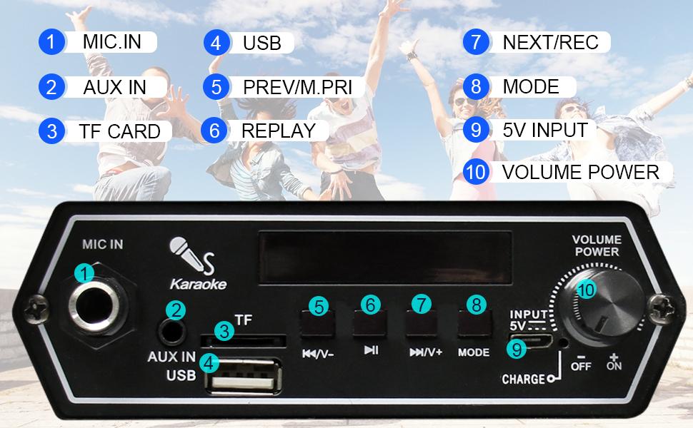 karaoke system bluetooth