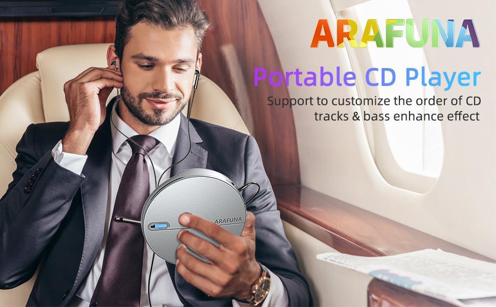 ARAFUNA Portable CD Player
