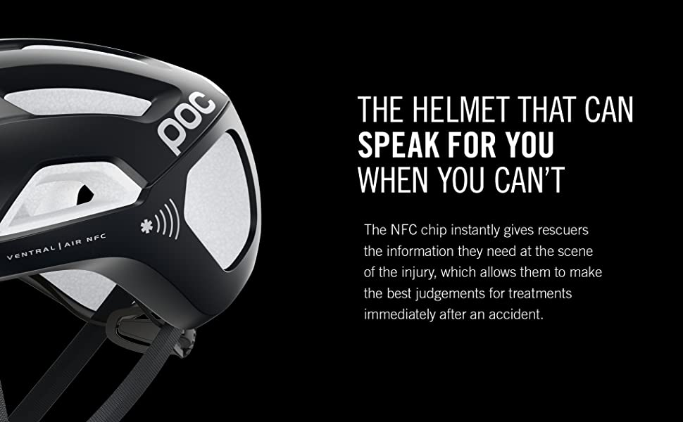 The helmet that can speak for you when you can't The NFC chip instantly gives rescuers information