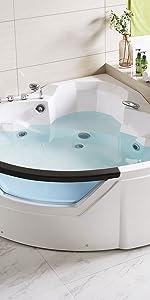 corner bathtub hot tub plug and play hot tub jacuzzi tub 2 person spa  bathtub jets portable