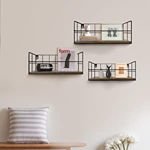 wall shelves set of 3