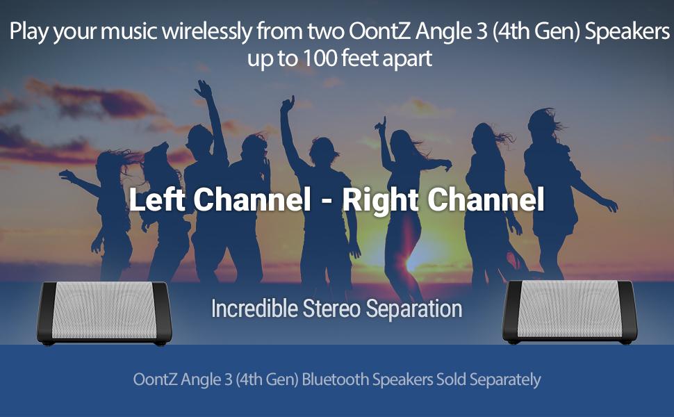 OontZ Angle 3 Gen 4 White Bluetooth Speaker