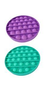 green purple round push pop bubble fidget