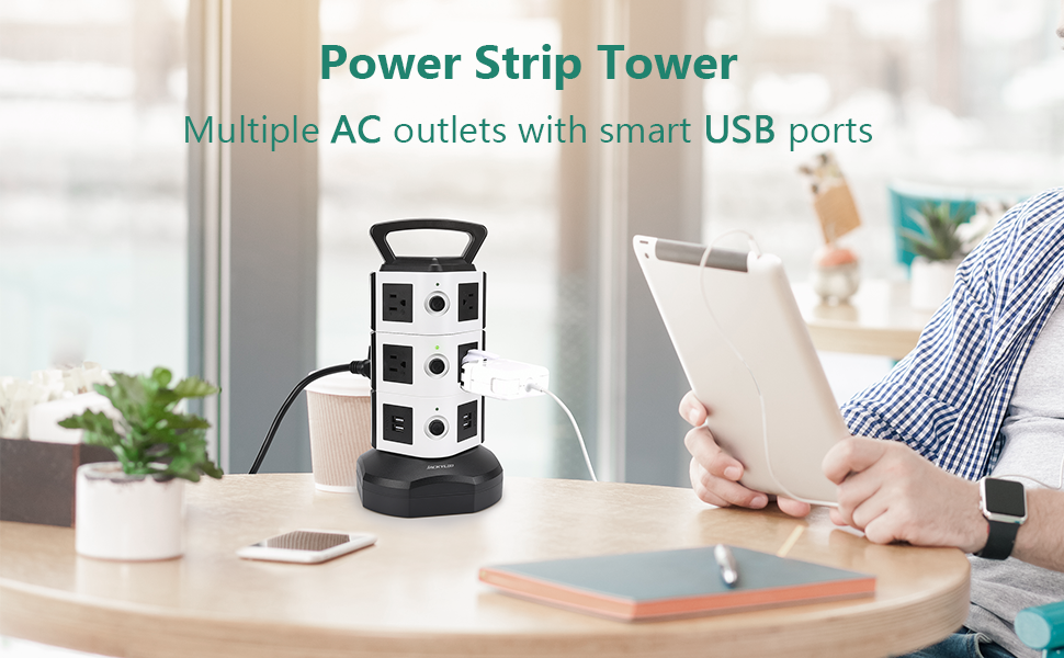 power strip tower with usb