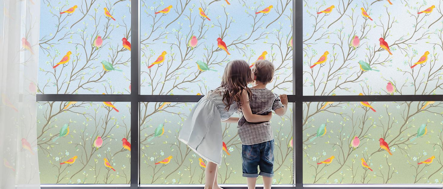 birds window film