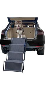 4 steps dog car ramp