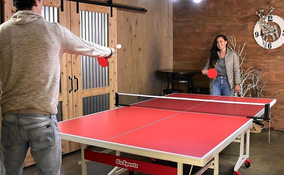 GoSports Indoor Tournament Table Tennis Set Play