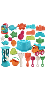 25 Pieces Beach Sand Toys Set