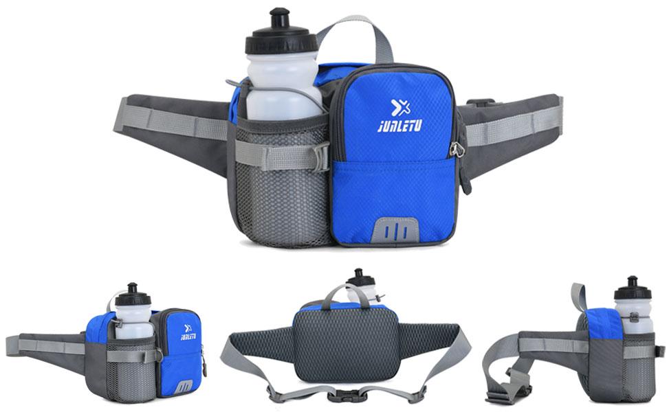 hiking waist bag,front,back and side
