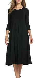 flowy midi dress for women