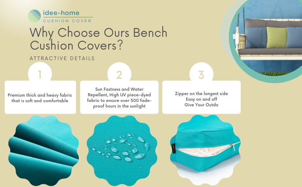 Patio Bench Cushion Cover Replacement