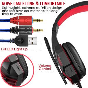 Type: Over-the-ear Speaker diameter:40mm PACKAGE CONTENT- HEADPHONE, 2IN1 CONNECTOR