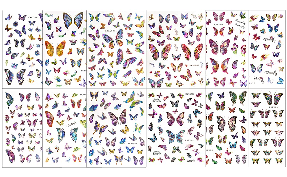 Nail Stickers Decals Butterfly