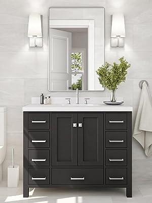ARIEL Cambridge 42 inch Espresso Bathroom Vanity