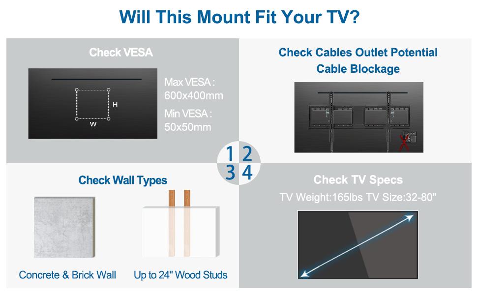55 inch tv mount
